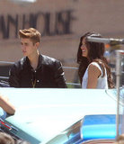 Justin Bieber and Selena Gomez Put On PDA Show on His Music Video Set