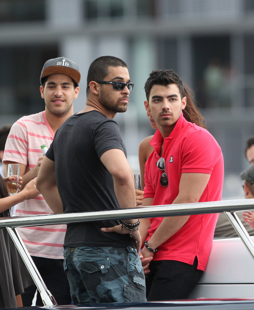 Wilmer Valderrama and Joe Jonas