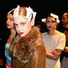 Gary Bigeni Goes For Translucent Makeup, a Strong Red Lip and Ponytail For 2012 MBFWA