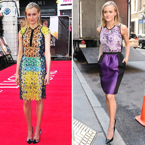 Taylor Schilling's The Lucky One Promotion Outfits