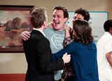 Jason Segel as Marshall, Neil Patrick Harris as Barney, Josh Radnor as Ted, and Cobie Smulders as Robin on How I Met Your Mother. Photo courtesy of CBS