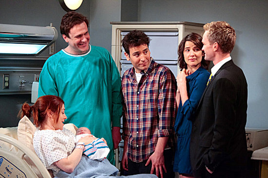Jason Segel as Marshall, Neil Patrick Harris as Barney, Alyson Hannigan as Lily, Josh Radnor as Ted, and Cobie Smulders as Robin on How I Met Your Mother. Photo courtesy of CBS
