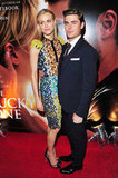 Zac Efron and Taylor Schilling linked up at the premiere of The Lucky One in London.