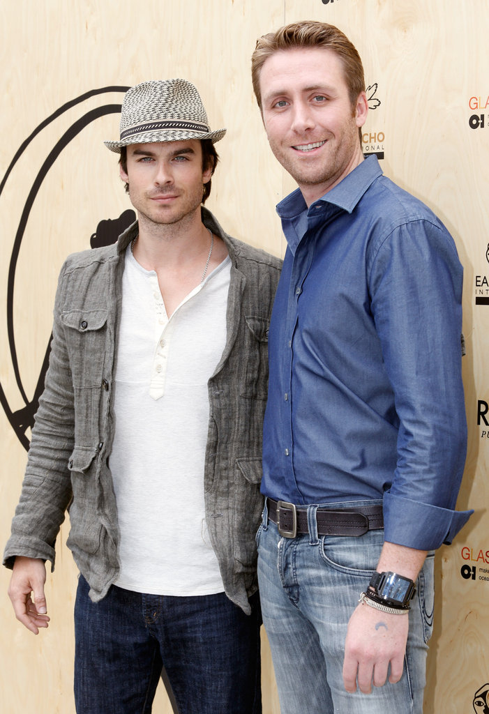 Ian Somerhalder and Philippe Cousteau were both in attendance at the Earth Day celebration in Santa Monica.