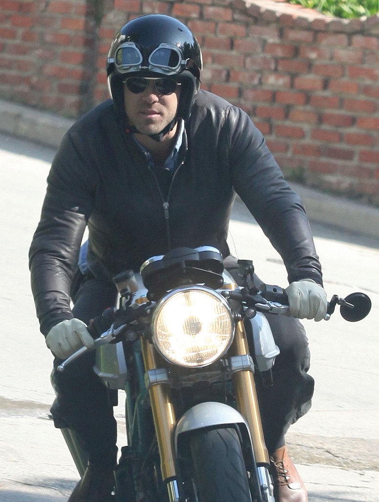 Ryan Reynolds took his motorcycle for a spin around LA.