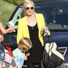 Gwen Stefani Pictures With Zuma and Kingston at Party