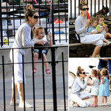 SJP and Her Twins Spend a Sunny Day Eating Popsicles in the Park