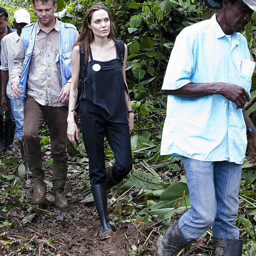 Angelina Jolie explored Ecuador with the UN in April.