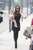 Harper Beckham took a stroll with Victoria.