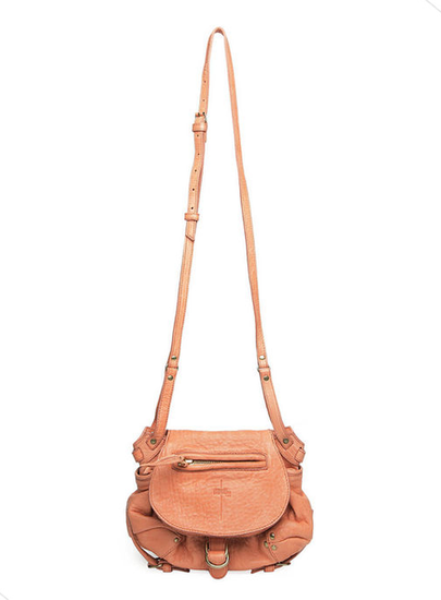 Jerome Dreyfuss's light peach crossbody bag is super cute, lightweight, and buttery soft. Jerome Dreyfuss Twee Mini Sling Bag ($564)