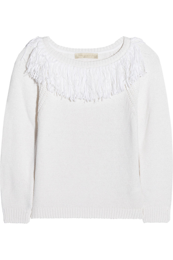 While we're all for a fringe fest, we think this more subtle version not only lives up to the Western cowgirl vibe, it'll keep us warm on chilly Spring days. Vanessa Bruno Fringed Cotton and Linen-Blend Sweater ($450)