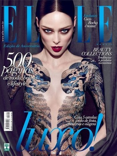 Coco Rocha took to her blog to express unhappiness with how naked she looks ...