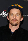 Ethan Hawke wore a baseball cap to the New York premiere of Bernie.