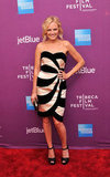 Malin Akerman wore black and white to the Tribeca premiere of The Giant Mechanical Man.