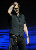 Johnny Depp attended the CinemaCon event in Las Vegas.