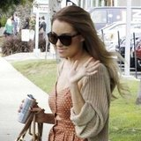 Lauren Conrad toted her purse and a Red Bull.