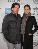 Ed Burns and Christy Turlington posed together at the premiere of Hysteria at the 2012 Tribeca Film Festival.