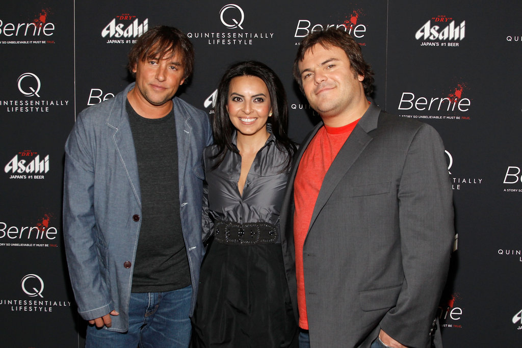 Director Richard Linklater, Lisa Leyva, and Jack Black linked up on the red carpet for the New York premiere of Bernie.