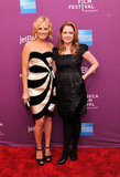 Jenna Fischer and Malin Akerman snapped a picture on the red carpet.
