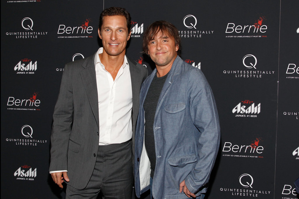 Matthew McConaughey linked up with director Richard Linklater at the New York premiere of Bernie.