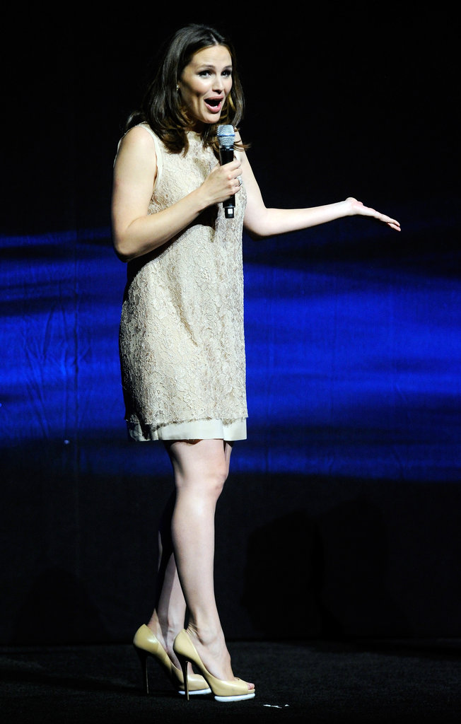 Jennifer Garner spoke at the CinemaCon event in Las Vegas.