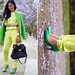 This neon-injected style gets double the color cool with two shades of brilliant green.