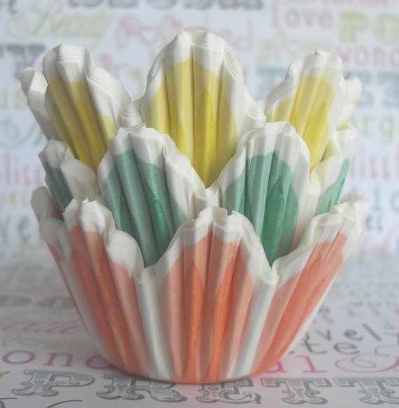 Baker's Bling Shop Mini Pastel Tulip Cupcake Liners ($7 For 90)