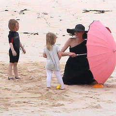 Brad Pitt Angelina Jolie and Kids Galapagos Pictures