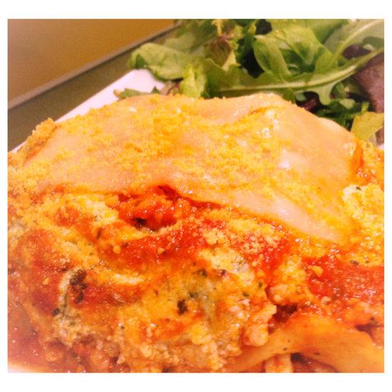Noodle-Less Lasagna with Pesto Ricotta