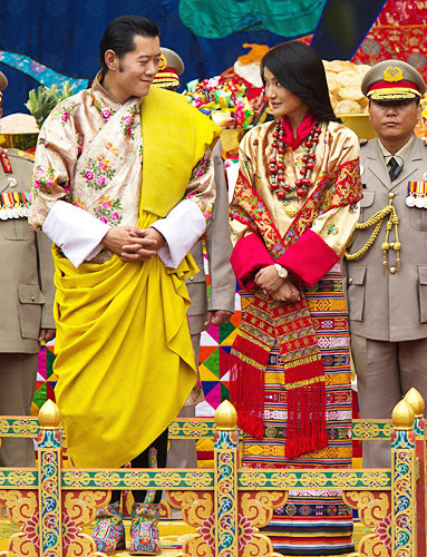 King Jigme Khesar Namgyel Wangchuck of Bhutan and Jetsun Pema