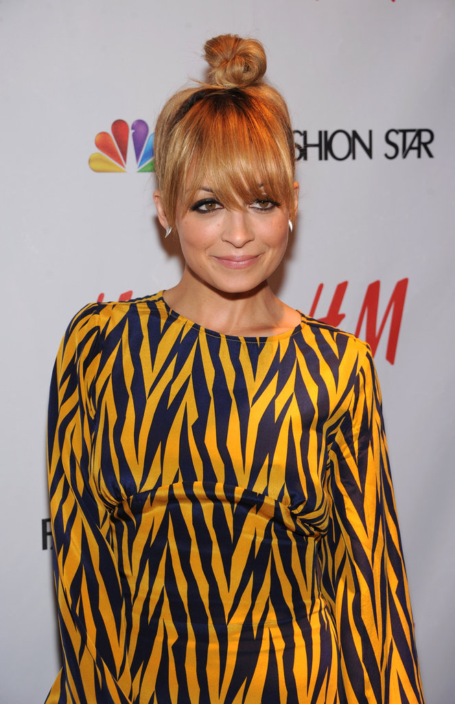 Nicole Richie donned a topknot.