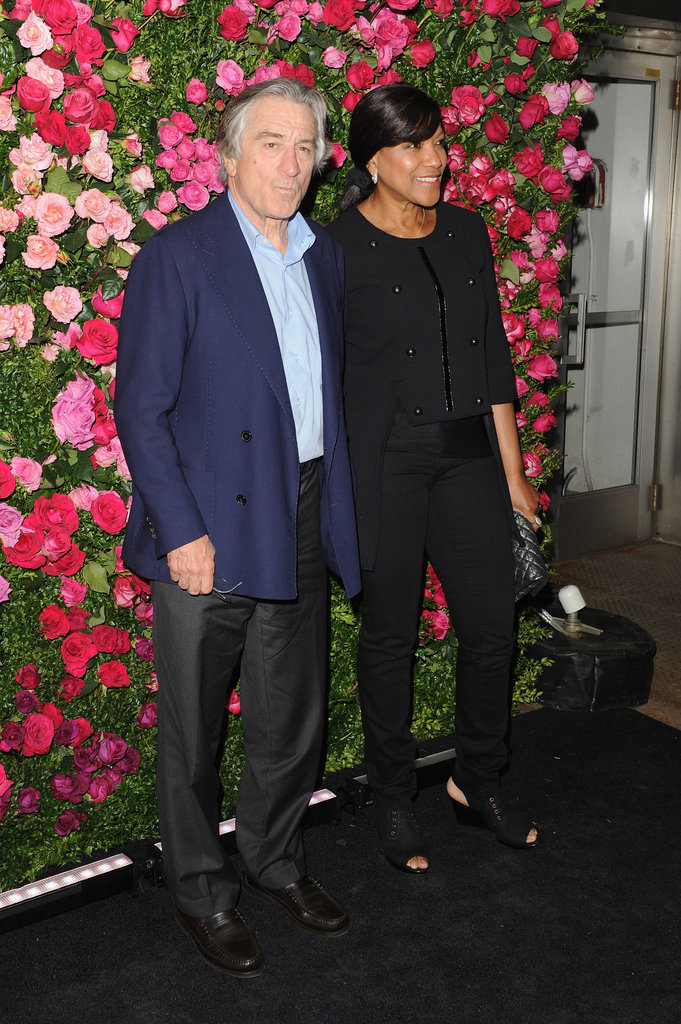 Robert De Niro and his wife, Grace Hightower, arrived to the Chanel dinner party at the 2012 Tribeca Film Festival.