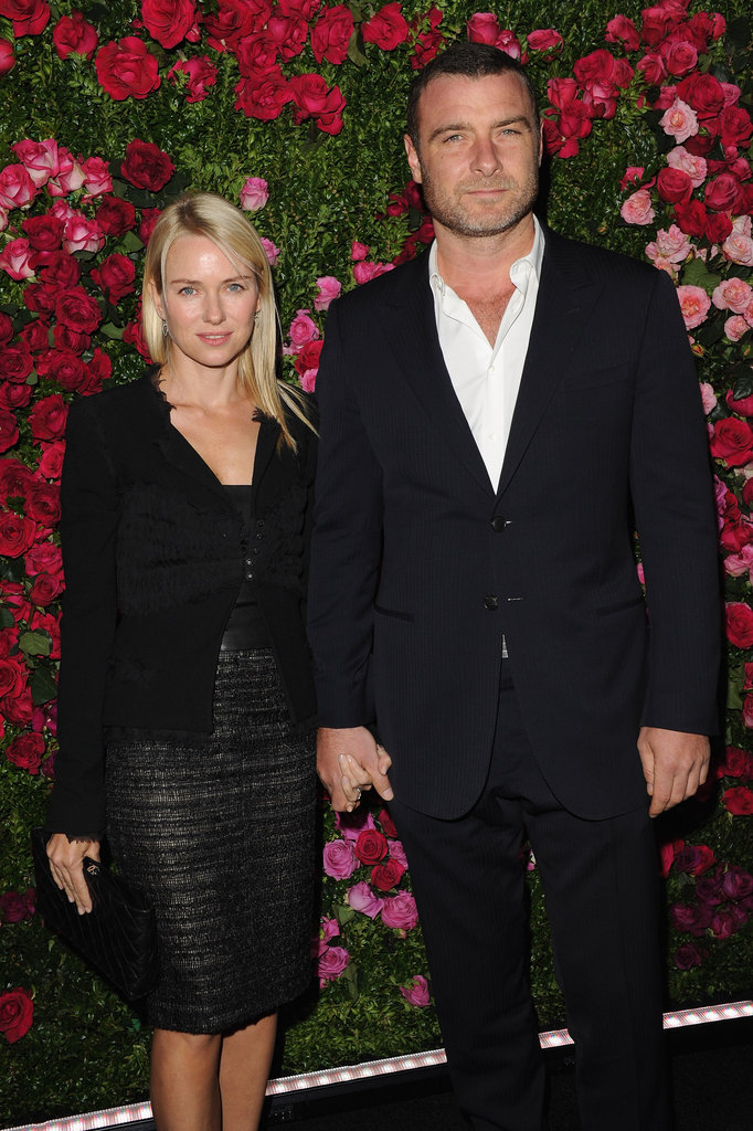 Naomi Watts was hand-in-hand with Liev Schreiber at the Chanel dinner party at the 2012 Tribeca Film Festival.