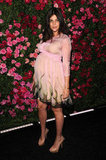 A pregnant Julia Restoin-Roitfield wore Prada to the Chanel dinner party at the 2012 Tribeca Film Festival.