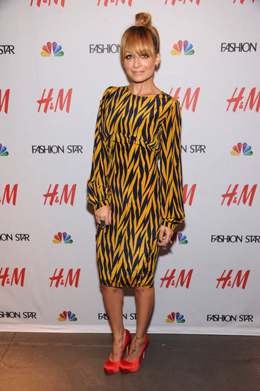 Nicole Richie attended a Fashion Star party.