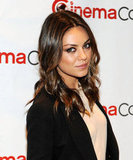Mila Kunis looked gorgeous in a black blazer.