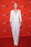 Tilda Swinton attended the Time 100 gala in NYC.