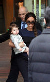 Victoria Beckham carried Harper.