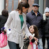 Katie Holmes and Suri Cruise Walking in NYC Pictures