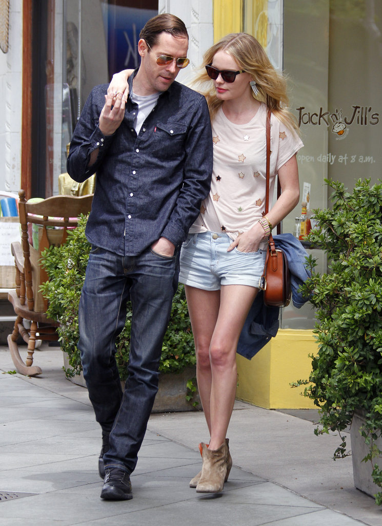 Kate Bosworth and her beau Michael Polish walked out of Jack n' Jill's eatery in LA together.