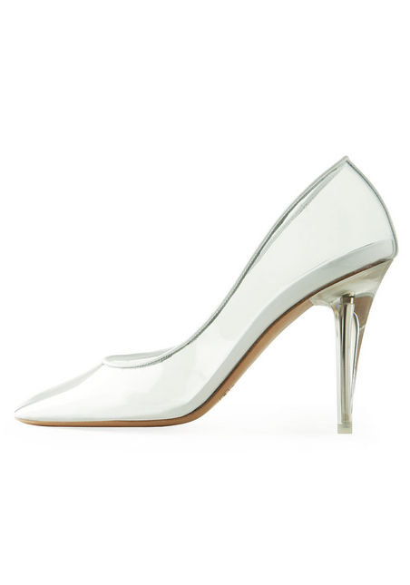 We love this Cinderella-esque glass slipper from Marc Jacobs.  Marc Jacobs Transparent Pump ($595)