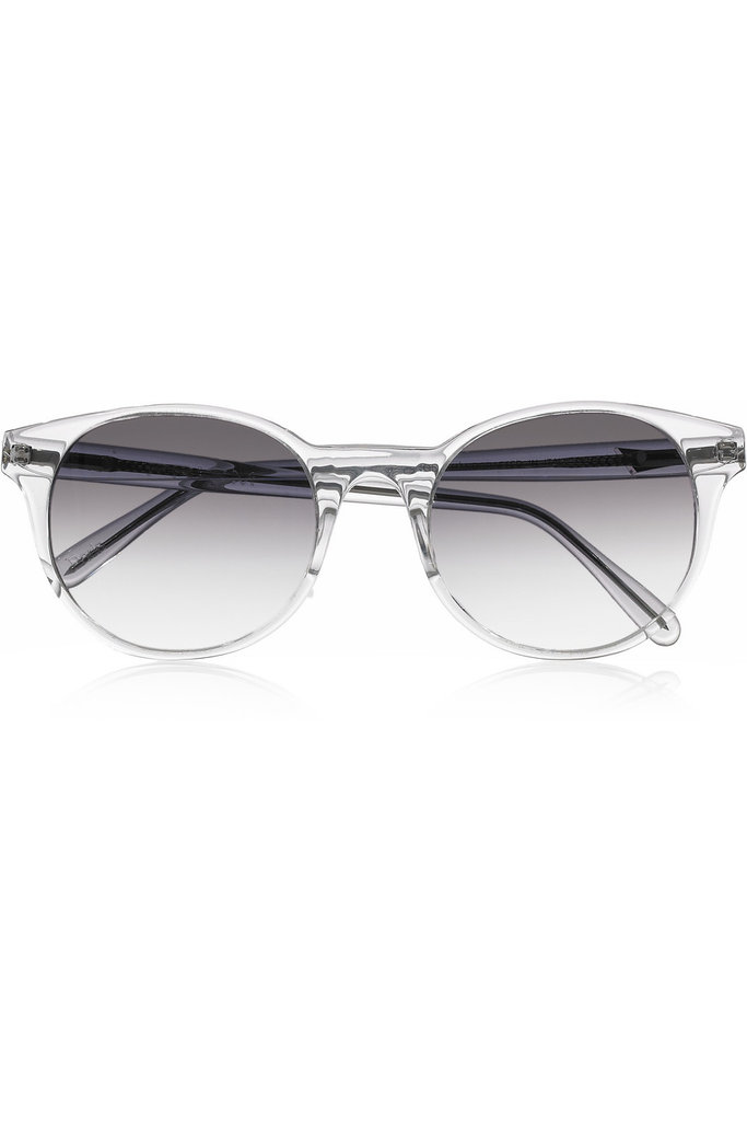 Channel the mod vibe with these cool lucite sunglasses.  Prism Paris Round Sunglasses ($405)