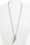 Michael Kors Safari Glam Long Tooth Pendant Necklace ($125)