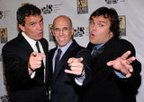 Antonio Banderas, Jack Black, and Jeffrey Katzenberg got together at CinemaCon in Las Vegas.