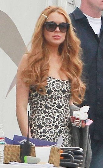 Lindsay Lohan was in LA shooting an episode of Glee.