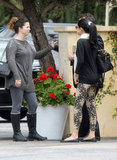 Selena Gomez chatted with her mom after having lunch in LA.