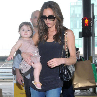 Victoria Beckham and Harper Beckham Pictures in Hong Kong