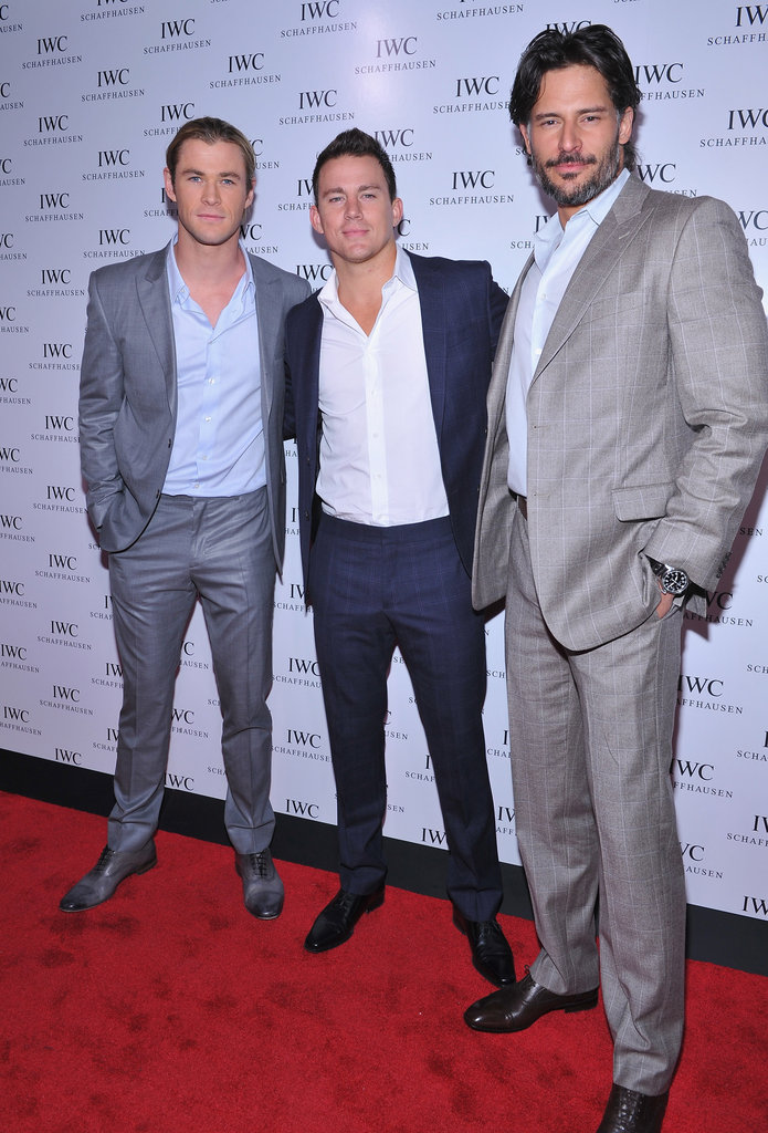 Chris Hemsworth, Channing Tatum, and Joe Manganiello went to the IWC Schaffhausen boutique opening.
