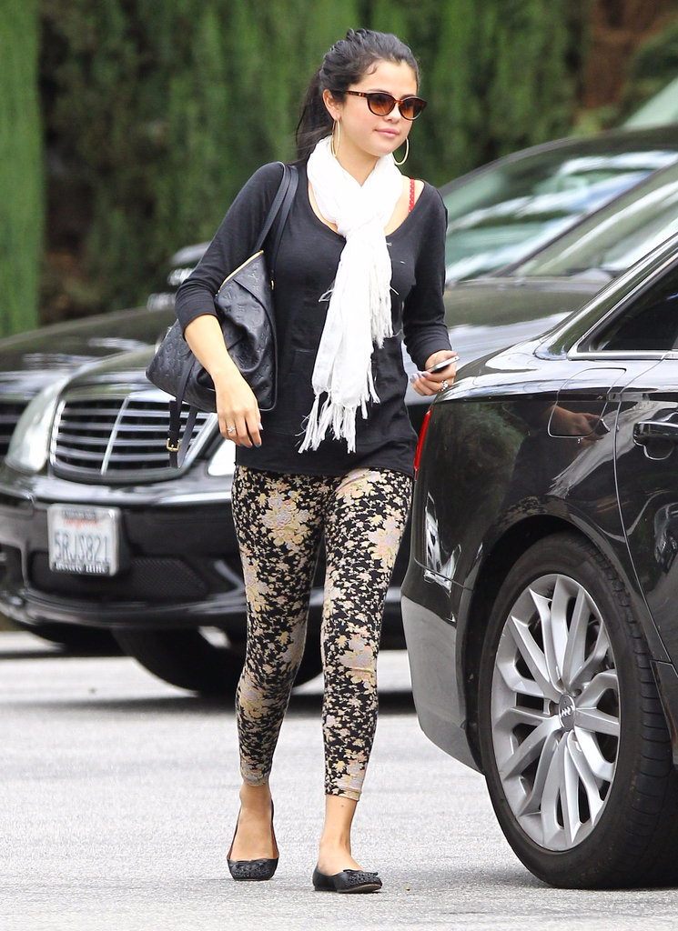 Selena Gomez lunched with her mom in LA.