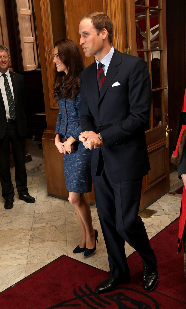 Kate Middleton wore Rebecca Taylor.